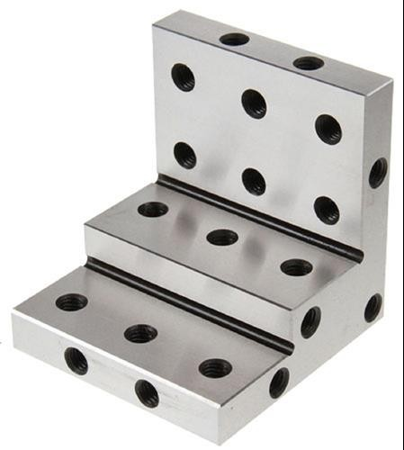 stepped angle plate 90°, sizes 75 x 75 x 75 mm