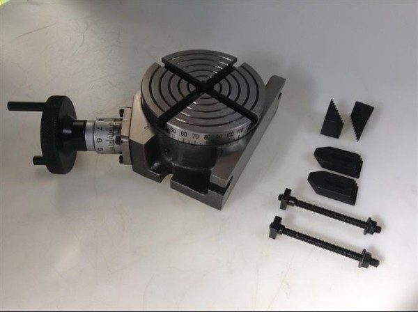 """Precision 3/"""" 75 MM Tilting Rotary Table With M6 Clamping Kit /& T Slot Cleaner"""
