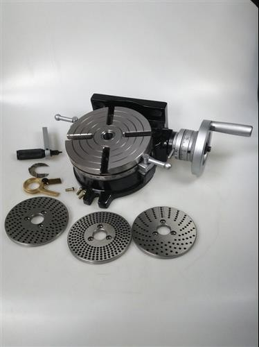 "Tailstock /& M8 Clamping Kit 6/"" Rotary Table 3 Slot With Dividing Plate set"